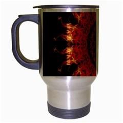 Flaming Sun Travel Mug (Silver Gray)