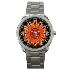 Flaming Sun Sport Metal Watch
