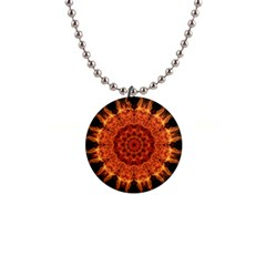 Flaming Sun Button Necklace