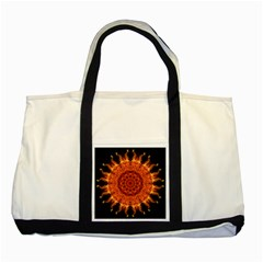Flaming Sun Two Toned Tote Bag