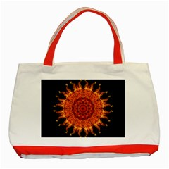 Flaming Sun Classic Tote Bag (Red)