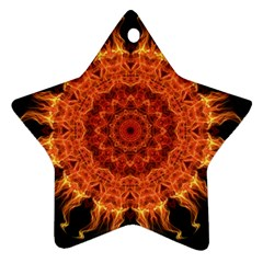 Flaming Sun Star Ornament (Two Sides)
