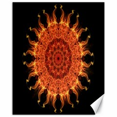 Flaming Sun Canvas 16  X 20  (unframed)