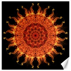 Flaming Sun Canvas 20  x 20  (Unframed)