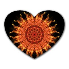 Flaming Sun Mouse Pad (Heart)