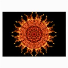 Flaming Sun Glasses Cloth (Large, Two Sided)
