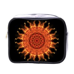 Flaming Sun Mini Travel Toiletry Bag (one Side)