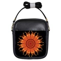 Flaming Sun Girl s Sling Bag
