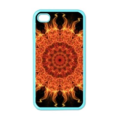 Flaming Sun Apple Iphone 4 Case (color)