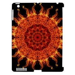 Flaming Sun Apple iPad 3/4 Hardshell Case (Compatible with Smart Cover)