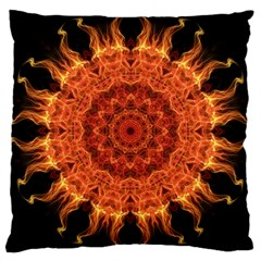 Flaming Sun Large Cushion Case (Two Sided)