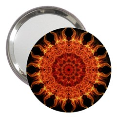 Flaming Sun 3  Handbag Mirror
