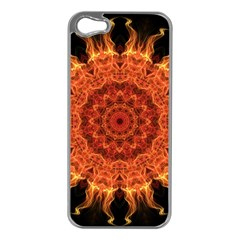 Flaming Sun Apple iPhone 5 Case (Silver)