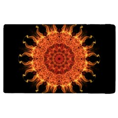 Flaming Sun Apple iPad 2 Flip Case