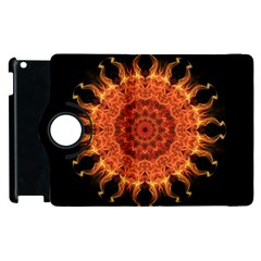 Flaming Sun Apple Ipad 2 Flip 360 Case