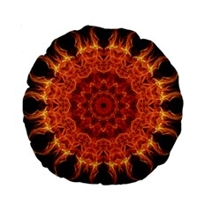 Flaming Sun 15  Premium Round Cushion