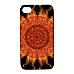 Flaming Sun Apple iPhone 4/4S Hardshell Case with Stand