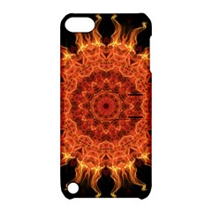 Flaming Sun Apple Ipod Touch 5 Hardshell Case With Stand