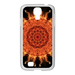 Flaming Sun Samsung GALAXY S4 I9500/ I9505 Case (White)
