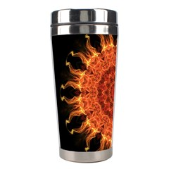 Flaming Sun Stainless Steel Travel Tumbler