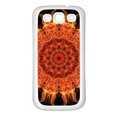 Flaming Sun Samsung Galaxy S3 Back Case (White)