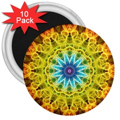 Flower Bouquet 3  Button Magnet (10 pack)