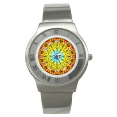 Flower Bouquet Stainless Steel Watch (Slim)