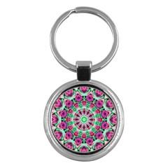 Flower Garden Key Chain (Round)