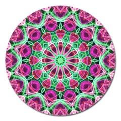 Flower Garden Magnet 5  (Round)