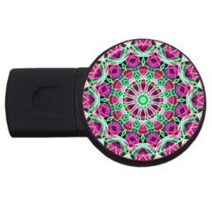 Flower Garden 4GB USB Flash Drive (Round)