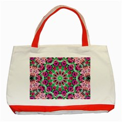 Flower Garden Classic Tote Bag (Red)