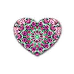 Flower Garden Drink Coasters (Heart)