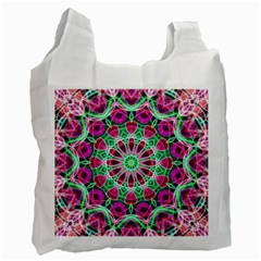 Flower Garden White Reusable Bag (One Side)