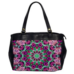 Flower Garden Oversize Office Handbag (One Side)