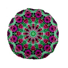Flower Garden 15  Premium Round Cushion