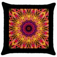Gemstone Dream Black Throw Pillow Case