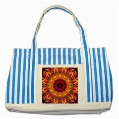 Gemstone Dream Blue Striped Tote Bag