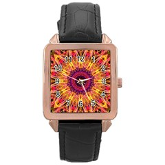 Gemstone Dream Rose Gold Leather Watch
