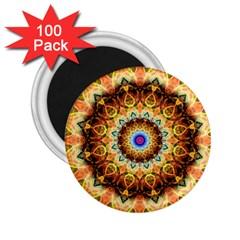 Ochre Burnt Glass 2.25  Button Magnet (100 pack)