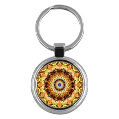 Ochre Burnt Glass Key Chain (Round)