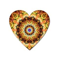Ochre Burnt Glass Magnet (Heart)