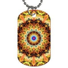 Ochre Burnt Glass Dog Tag (Two-sided)