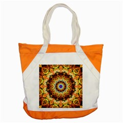Ochre Burnt Glass Accent Tote Bag