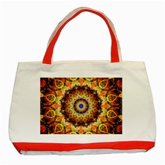 Ochre Burnt Glass Classic Tote Bag (red)