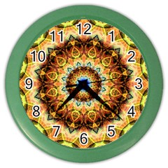 Ochre Burnt Glass Wall Clock (Color)