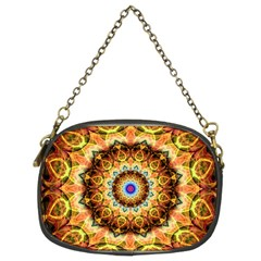 Ochre Burnt Glass Chain Purse (two Sided)