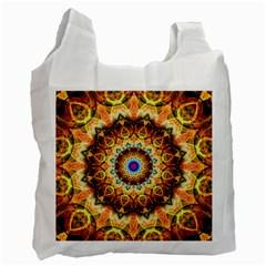Ochre Burnt Glass White Reusable Bag (two Sides)