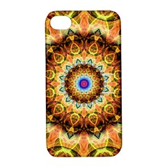 Ochre Burnt Glass Apple Iphone 4/4s Hardshell Case With Stand