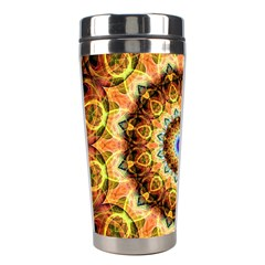 Ochre Burnt Glass Stainless Steel Travel Tumbler