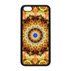 Ochre Burnt Glass Apple iPhone 5C Seamless Case (Black)